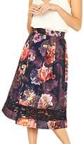 Oasis Romance Floral Midi Skirt, Multi