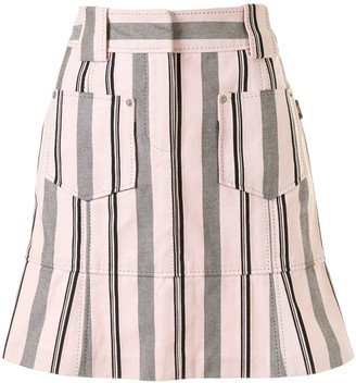 Louis Vuitton Pre-Owned Striped Mini Skirt