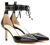Francesco Russo Embellished Leather Pumps