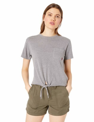 RVCA Women's Morning VA Knot Front Cropped T-Shirt