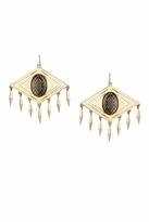 House Of Harlow Smoky Diamond Tassel Earrings in Smoky Gold