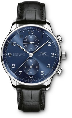 IWC Portugieser Stainless Steel & Alligator Strap Chronograph Watch