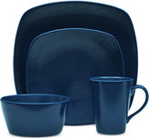 Noritake Navy-On-Navy Swirl 4-Pc. Square Place Setting