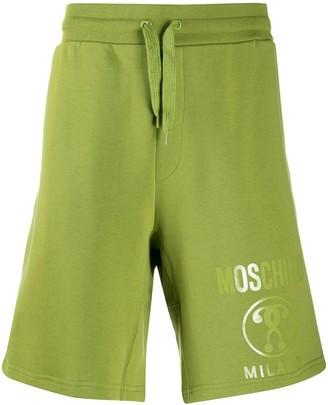 Moschino Milano logo-print track shorts