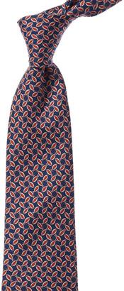 Kiton Red Fish Silk Tie