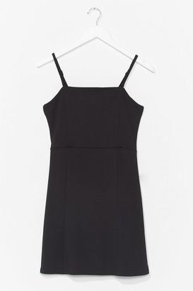 Nasty Gal Womens Give Us a Mini Square Neck Dress - Black - S, Black