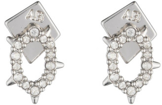 Alexis Bittar Crystal Encrusted Spiked Stud Earring