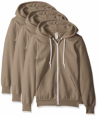 Marky G Apparel Men's Flex Fleece Full-Zip Hooded Sweatshirt (3 Pack) Jacket (3 Packs)