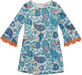 Rare Editions Long Sleeve Bell Sleeve Skater Dress - Preschool Girls