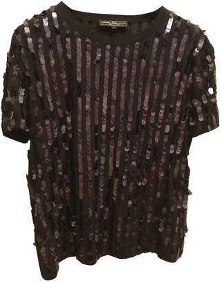 Salvatore Ferragamo Black Cotton Top for Women