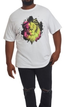 Mvp Collections By Mo Vaughn Productions Mvp Collections Men's Big & Tall Neon Lion T-Shirt