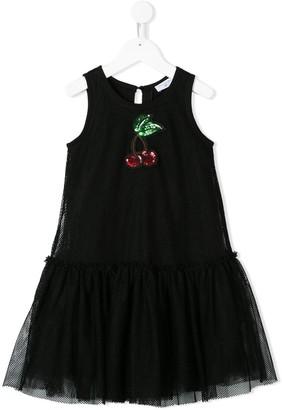 MonnaLisa Embellished Cherry Dress