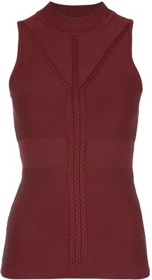 Cushnie Sleeveless Fitted Top