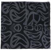 Moschino peace sign scarf