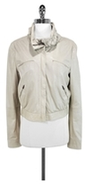 Gucci Soft Scrunched Leather Moto Jacket