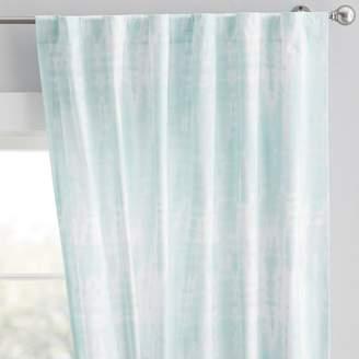 Pottery Barn Teen Tie Dye Curtain, 63&quot, Pale Seafoam