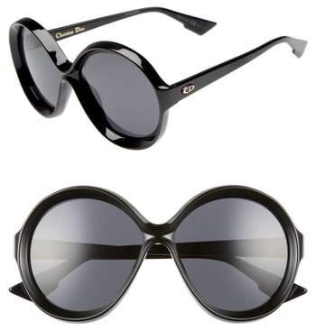 Christian Dior Bianca 58mm Round Sunglasses