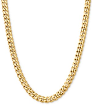 "Italian Gold Curb Link 24"" Chain Necklace in 10k Gold"