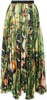 ADAM by Adam Lippes Orchid printed voile pleated midi skirt