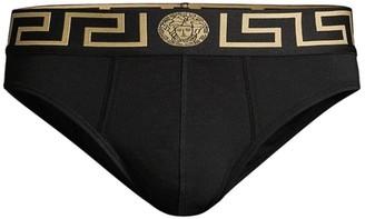 Versace Logo Low-Rise Briefs