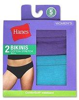 Hanes Women's Cotton Stretch Bikini Panty (Pack of 2)