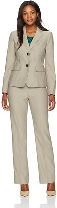 Le Suit LeSuit Women's End 2 Button Pant Suit with Cami