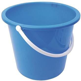 Winware 10 litre round plastic bucket. Colour: Blue
