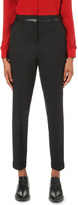 The Kooples Contrast-trim tapered wool-blend trousers