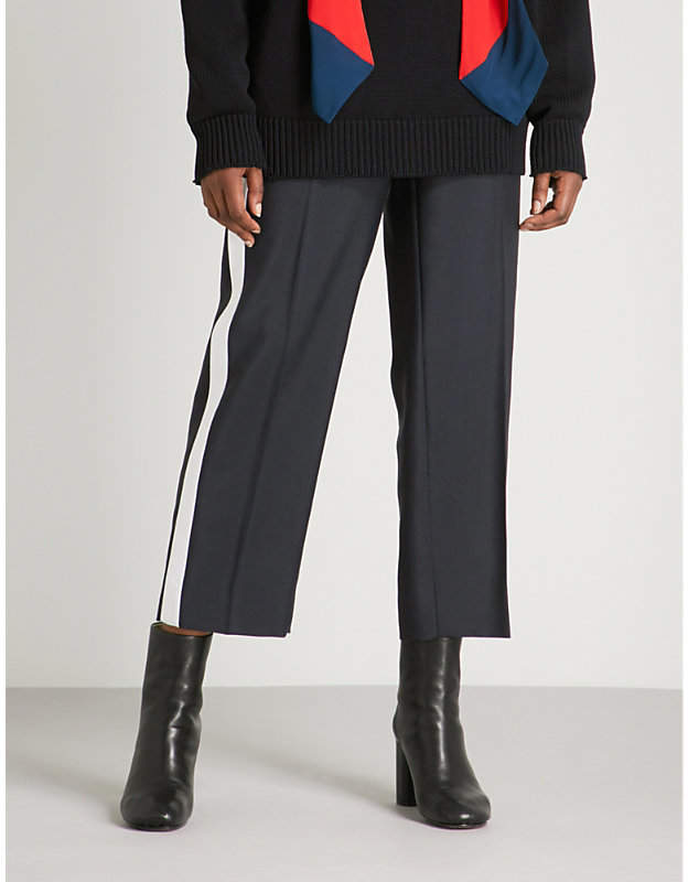 Givenchy Side-stripe mohair and wool-blend trousers