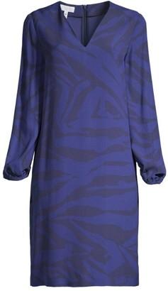 Escada Sport Dambya Printed Long-Sleeve Dress