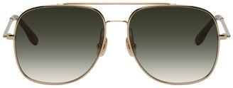 Victoria Beckham Gold V-Star Revised Aviator Sunglasses