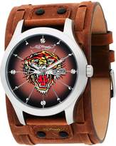 Ed Hardy Men's GL-TG Gladiator Tiger Stainless Steel 316L Watch