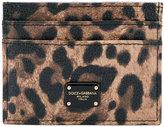 Dolce & Gabbana leopard print cardholder - women - Leather - One Size