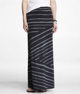 Express Directional Stripe Slub Knit Column Skirt