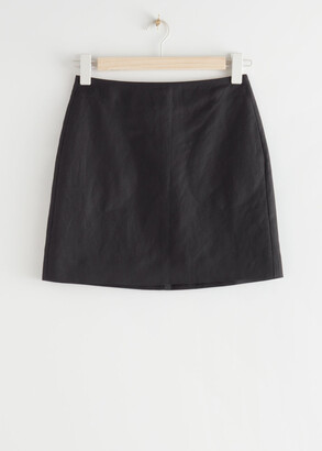 And other stories Linen Blend Mini Skirt