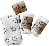 JTJ Products Three Big Organic Muslin Bamboo Cotton Swaddle Baby Boy Girl Blanket Unisex Oversized 47x47 inches Almost 4x4 Feet!!!