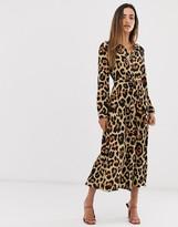 AX Paris maxi button through shirt dress