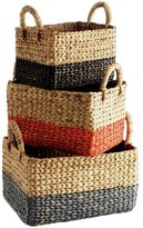 Habitat Coby Set of 3 Rectangular Baskets - Multicoloured
