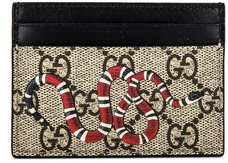 Gucci Cardholder in Beige Ebony & Mukti & Black | FWRD