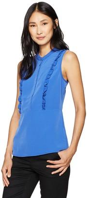 Lark & Ro Amazon Brand Women's Sleeveless Ruffle Peplum Top