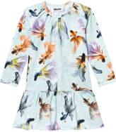 Molo Graceful Swimmers Long Sleeve Cammon Dress