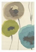 Sanderson Rugs Poppies Teal Olive Rug