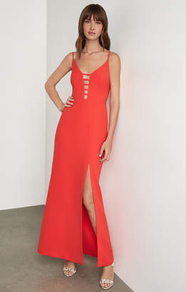 BCBGMAXAZRIA Strappy Caged Gown