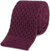 Gibson Burgundy honeycomb textured knitted tie