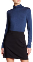Max Studio Long Sleeve Turtleneck Ruched Tee