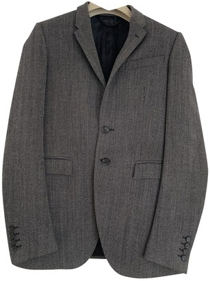 Burberry Grey Wool Suits