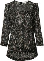 Veronica Beard floral print sheer blouse