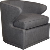 Horchow Dyna St. Clair Charcoal Tweed Swivel Chair