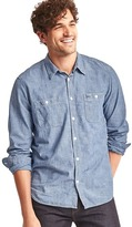 Gap 1969 Icon Worker Chambray Shirt