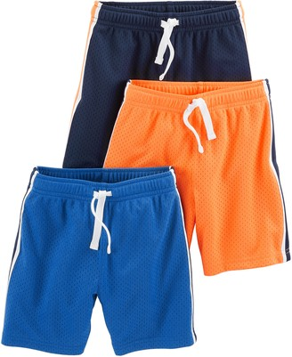 Simple Joys by Carter's 3-pack Mesh Shorts Black